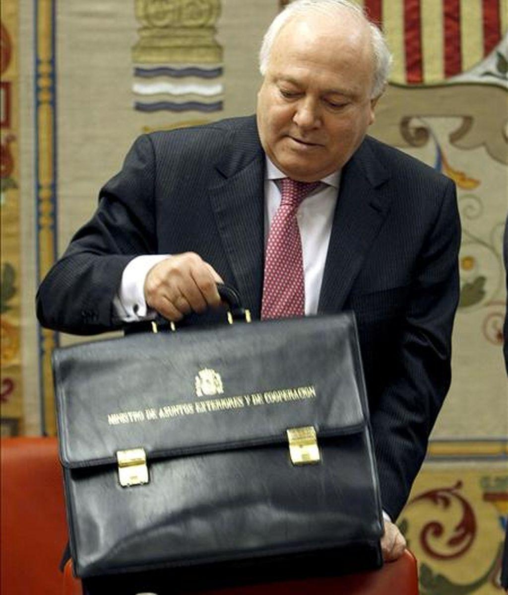 El ministro de Asuntos Exteriores español, Miguel Ángel Moratinos. EFE/Archivo
