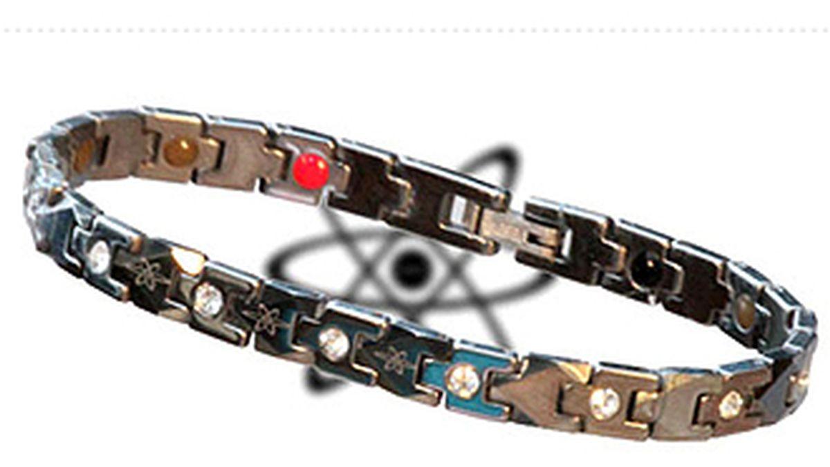 Una de las pulseras a las que la empresa le atribuye propiedad milagrosas, hoy denunciada de ser un fraude por FACUA. Foto web Ion Balance