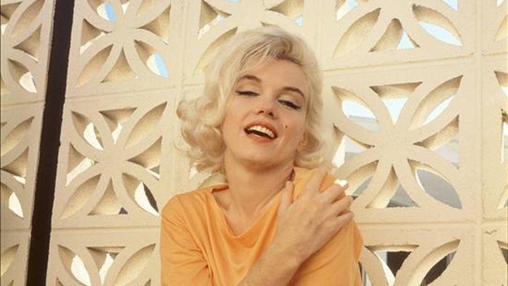 Reproducción de una fotografía sin fechar de la actriz y modelo estadounidense Marilyn Monroe, tomada por Emilio Pucci, que junto a otros objetos de Elvis Presley y Marilyn Monroe son expuestos en el Planet Hollywood de Nueva York (NY, EE.UU.). EFE