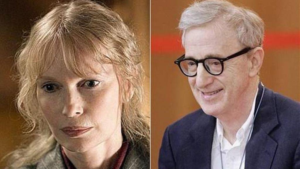 Mia Farrow y Woody Allen