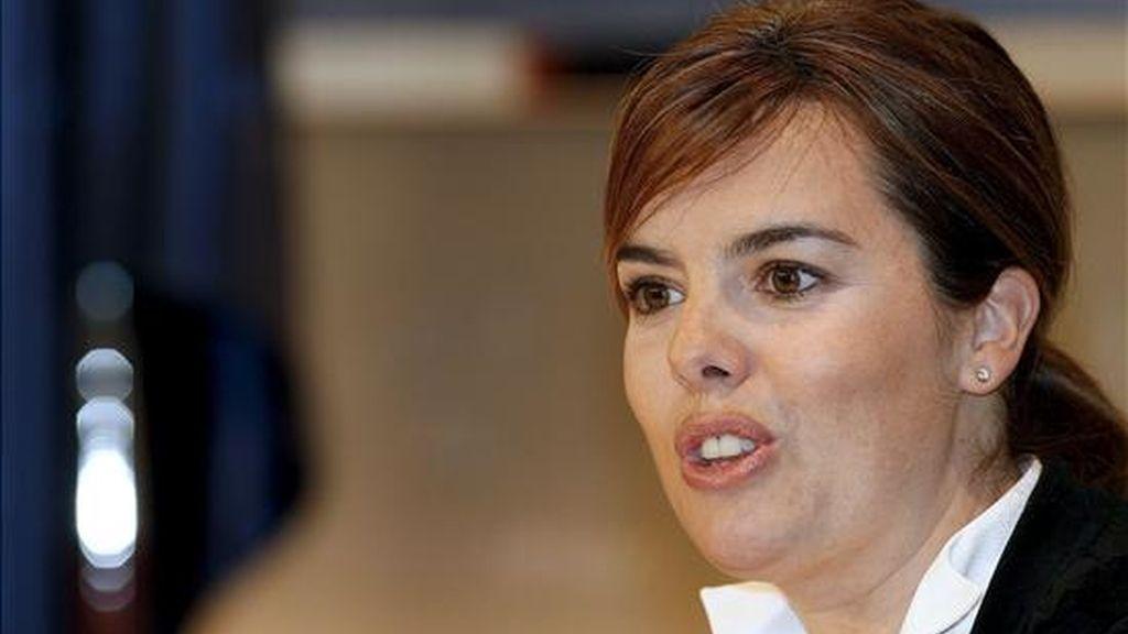 La portavoz del grupo popular, Soraya Sáenz de Santamaría. EFE/Archivo