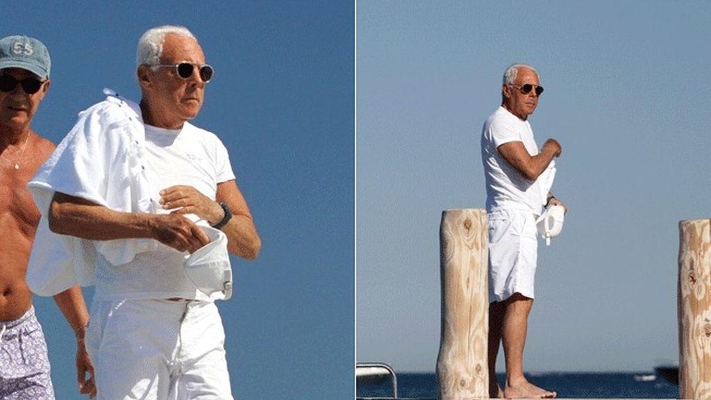 Giorgio Armani en Saint Tropez