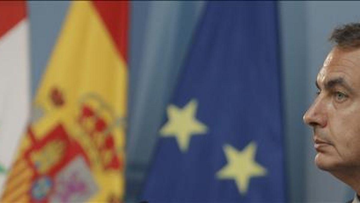 El presidente del Gobierno, José Luis Rodríguez Zapatero, hoy durante la rueda de prensa que ofreció junto al presidente de Siria, Bachar Al Asad. EFE