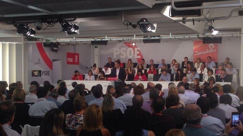Pedro Sánchez durante el Comité Federal
