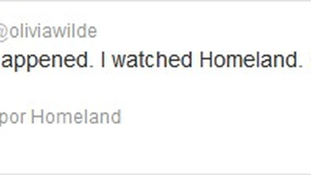Twitter Olivia Wilde (Homeland)