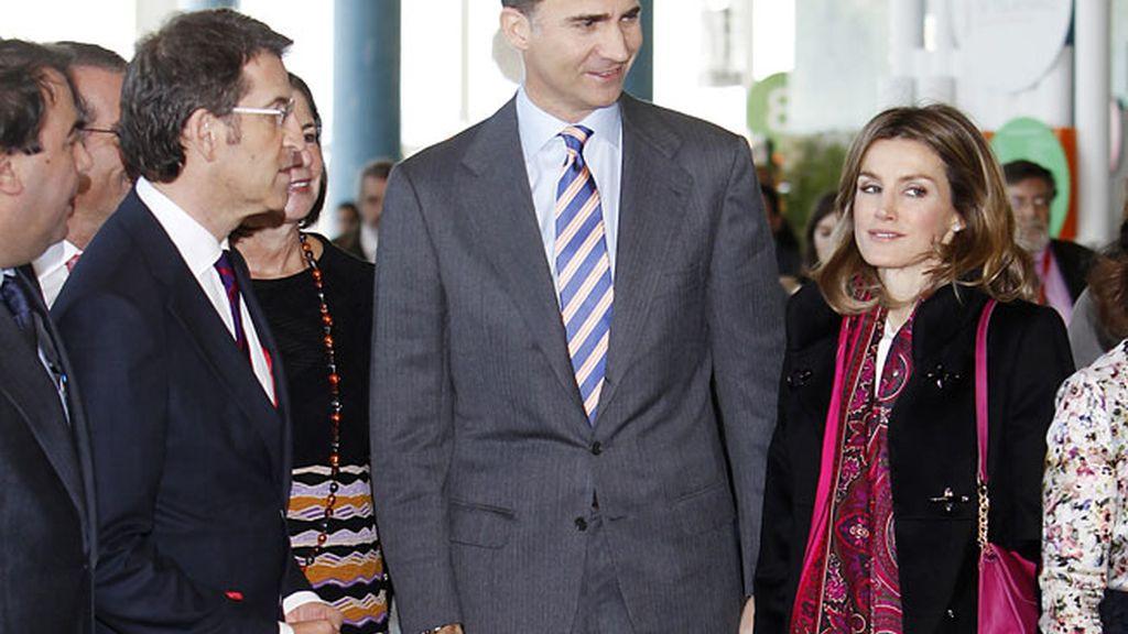 Los Príncipes, con los voluntarios en A Coruña