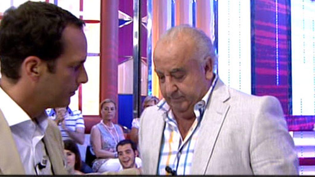 Humberto Janeiro, a punto de abandonar el plató de 'Enemigos íntimos'