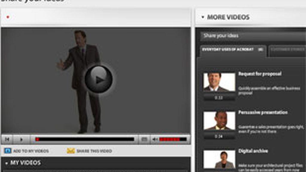 A partir de ahora, se pueden insertar imágenes en movimiento y contenidos en formato Flash en los documentos PDF. Foto: Adobe.