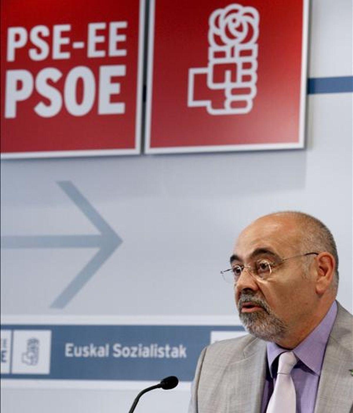 El portavoz del PSE, José Antonio Pastor. EFE/Archivo