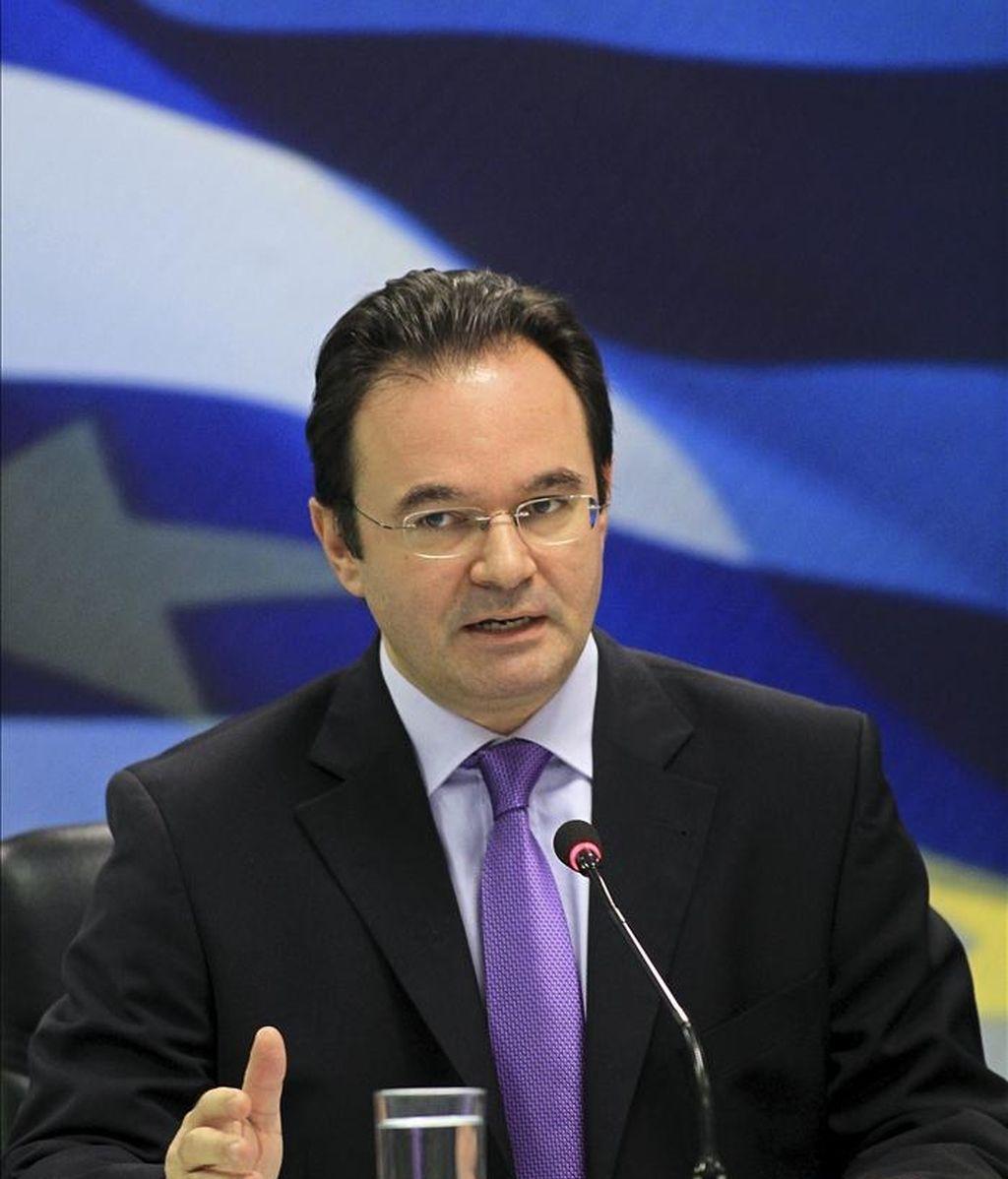 El ministro griego de Finanzas, Yorgos Papaconstantínu. EFE/Archivo
