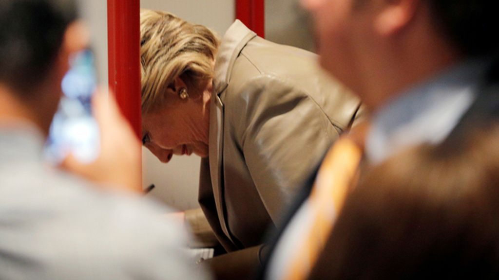Hillary Clinton vota en la escuela elemental Grafflin, Nueva York