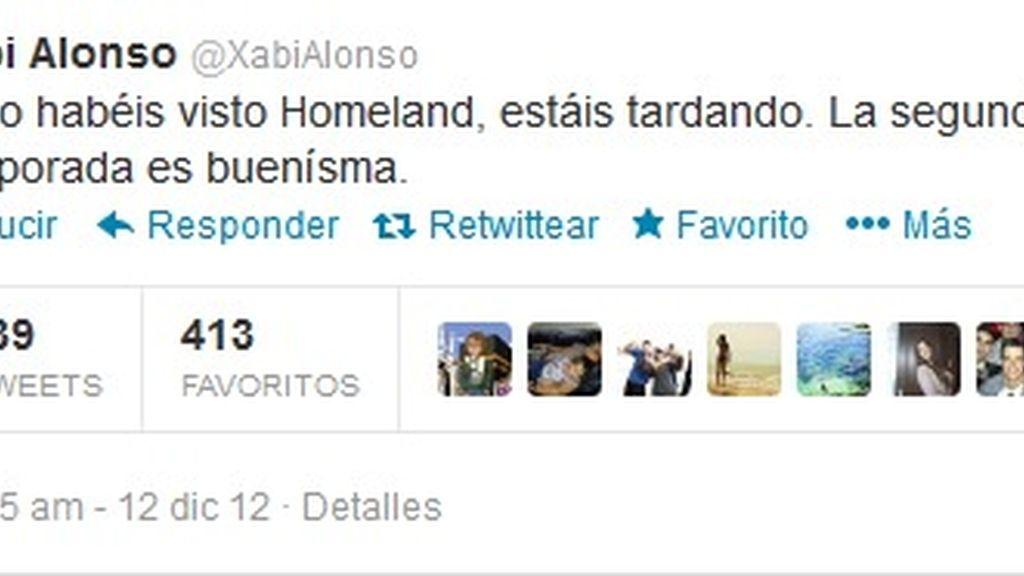 Twitter Xabi Alonso (Homeland9