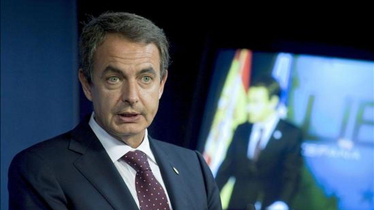 Zapatero tomará la palabra en la ONU para reiterar su compromiso con los esfuerzos de la comunidad internacional en la lucha contra el hambre y la pobreza, aunque, en época de crisis, no se esperan anuncios de nuevas aportaciones financieras. EFE/Archivo