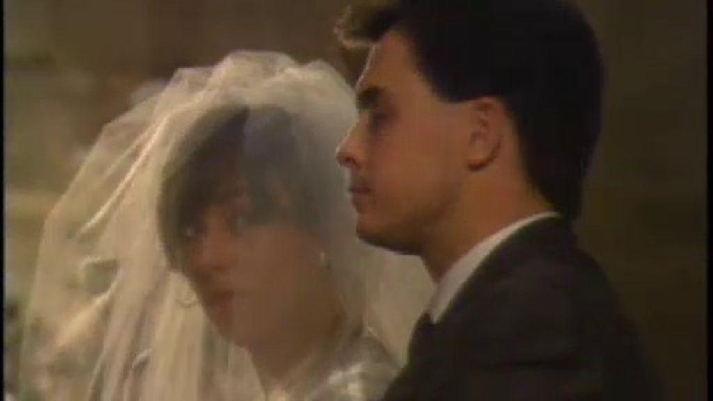 Mercè Gironés y Jordi Pujol Ferrusola en un momento de su boda