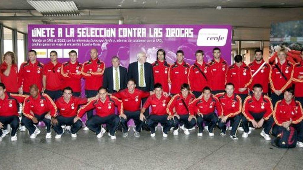 La selección española es la que más presencia tiene en los medios. Foto: EFE