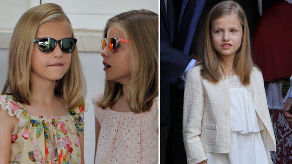 Diez años: estilismos conjuntados de hermanas