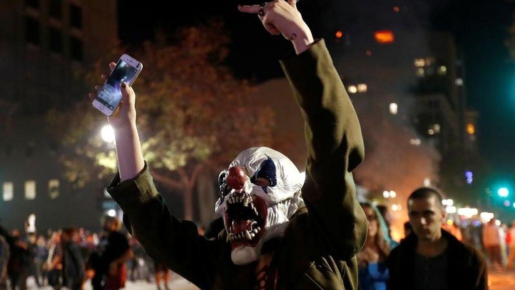 Protesta enmascarada