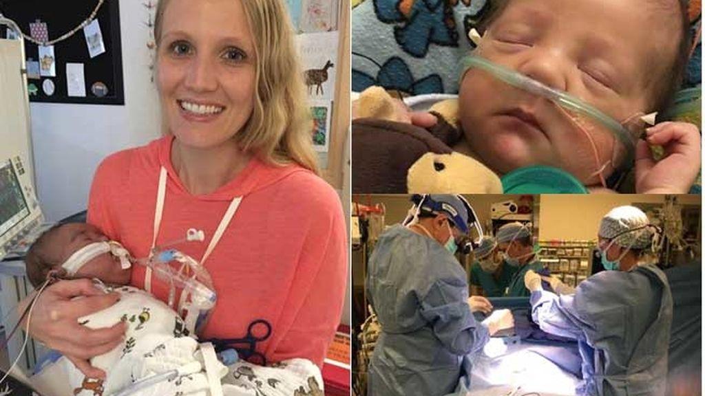 Henry supera un trasplante de corazón con cinco meses