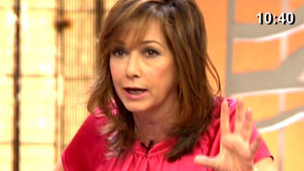 Ana Rosa no entiende el porqué de la negativa de Ana Obregón