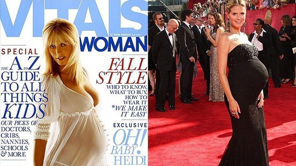 Heidi Klum, sexy y embarazada (2005)