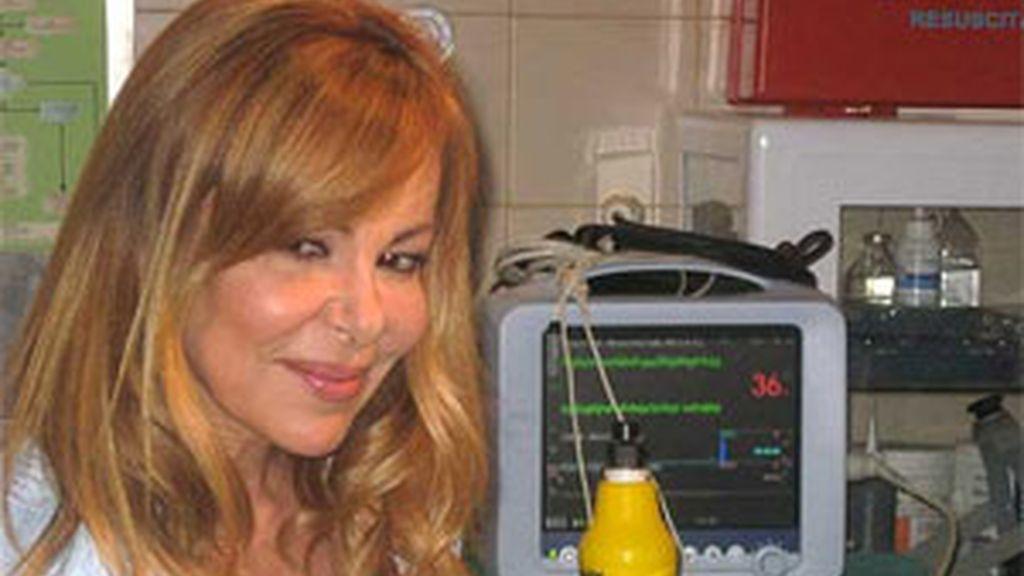 Ana Obregón durante la rueda de prensa. Foto: Telecinco.es