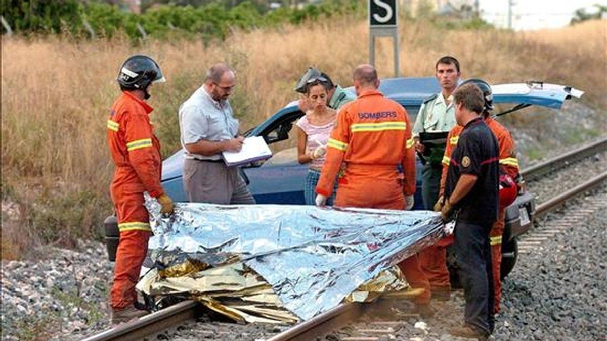 Un accidente similar registrado en Valencia. EFE/Archivo