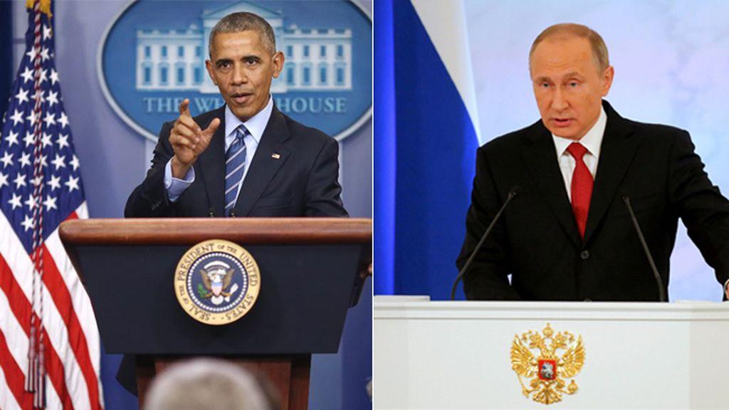 Tensión entre Obama y Putin