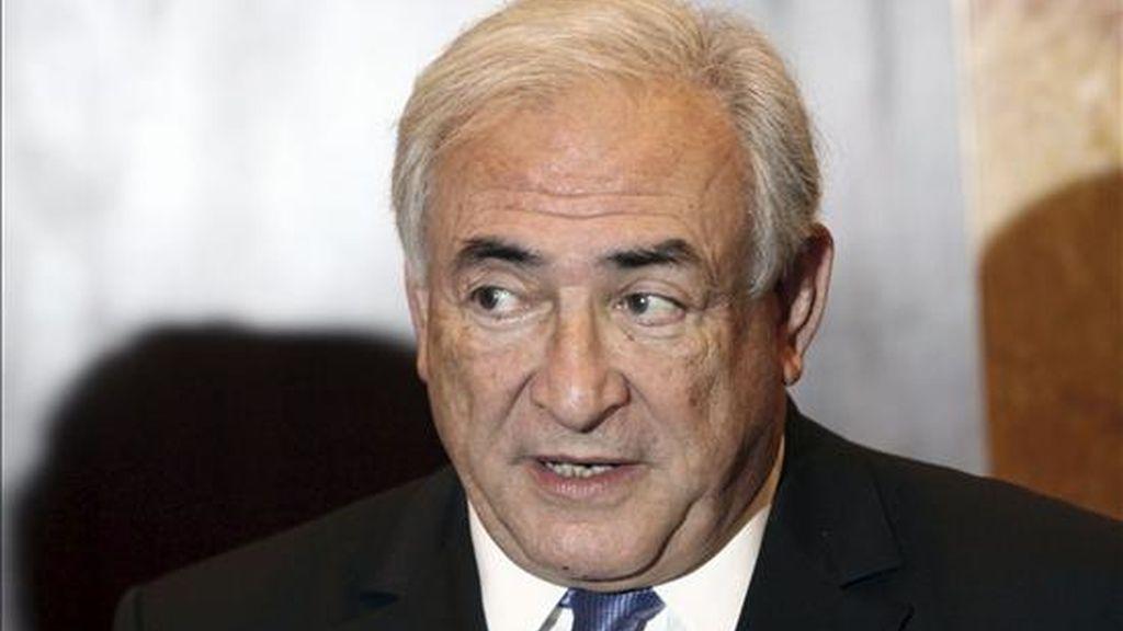 El director del Fondo Monetario Internacional (FMI), Dominique Strauss-Kahn. EFE/Archivo