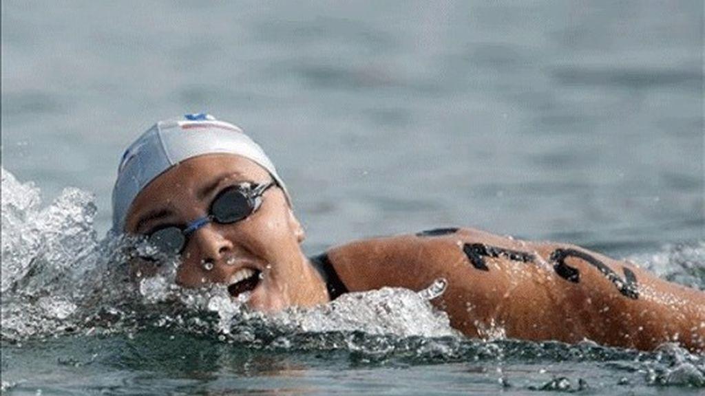 Ilchenko primera campeona olímpica de aguas abiertas, Requena decimotercera