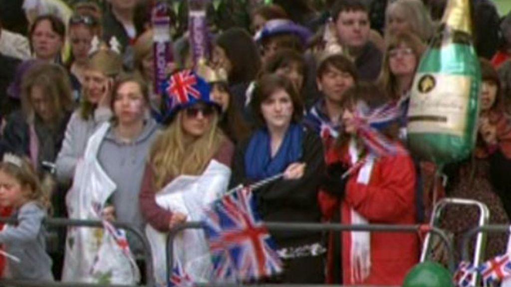 El pueblo británico se vuelca con el enlace de Guillermo y Catalina