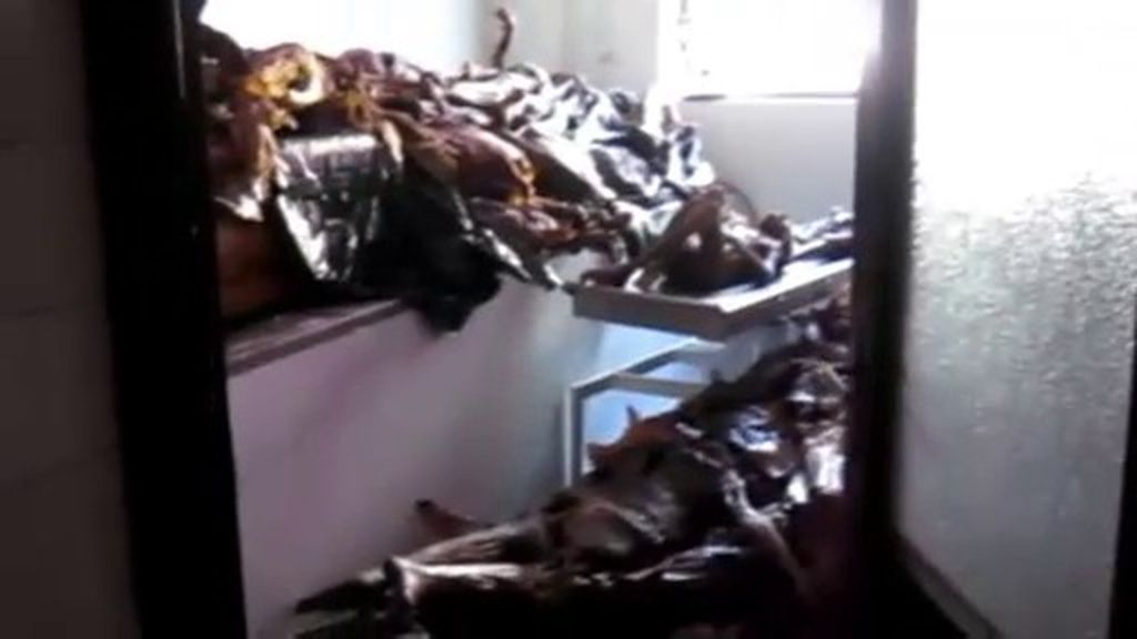 Cadáveres apilados en la Facultad de Medicina de la Universidad Complutense de Madrid