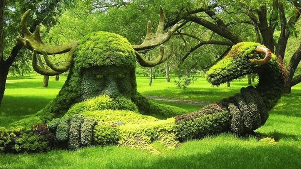 El arte de la jardinería ornamental