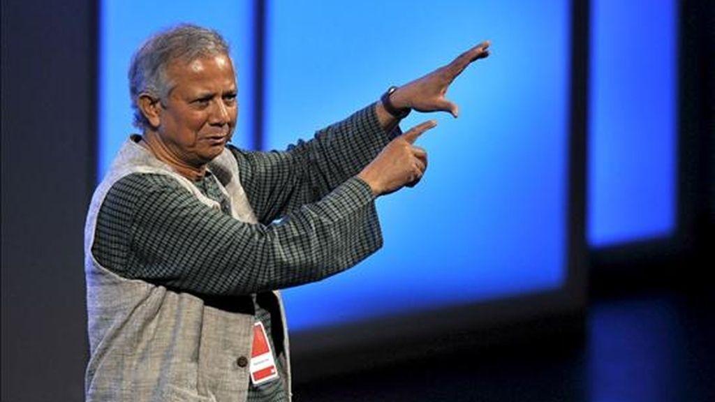 Fotografía de archivo del 01/07/2010 del Premio Nobel de la Paz Muhammad Yunus. EFE/Archivo