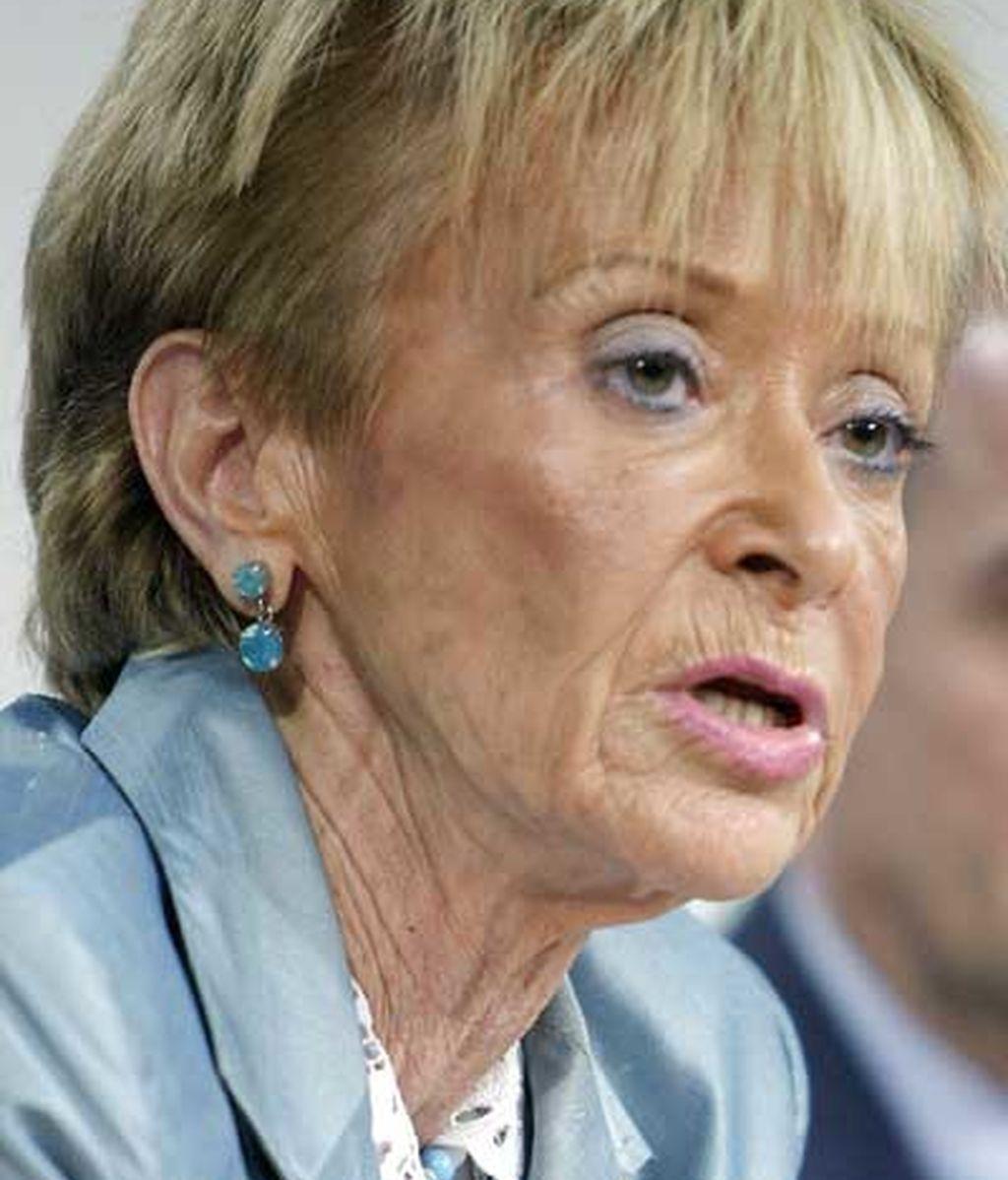 María Teresa Fernández de la Vega ha sido tajante ante la consulta de Ibarretxe. FOTO: EFE