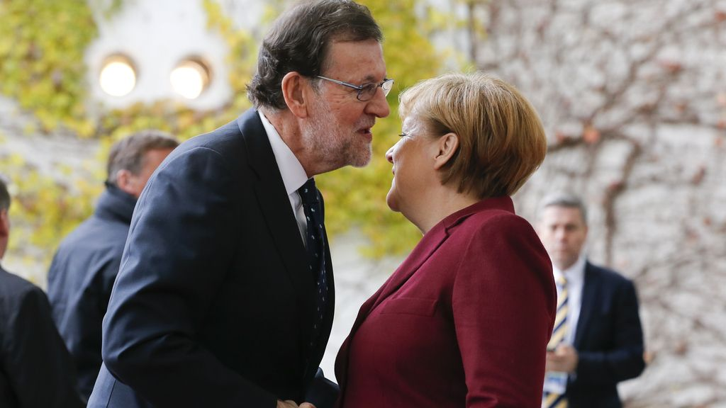 Mariano Rajoy y Ángela Merkel en Berlín