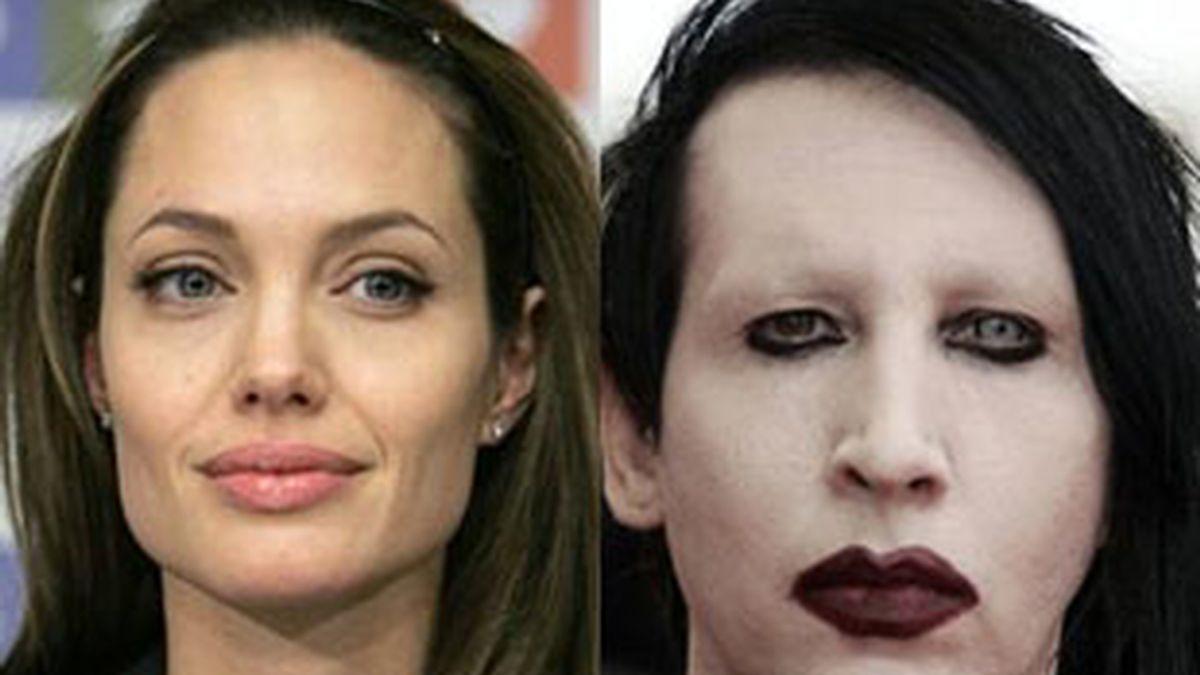 Para Manson supone un indescriptible reto la idea de pintar desnuda a Angelina Jolie. Foto: AP
