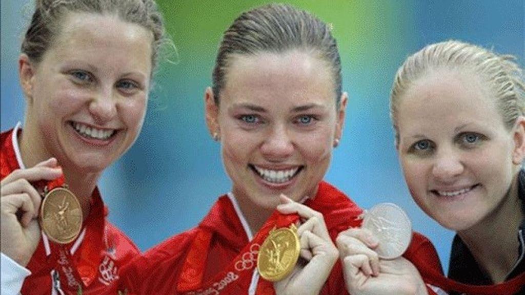 Natalie Coughlin, oro en 100 metros espalda
