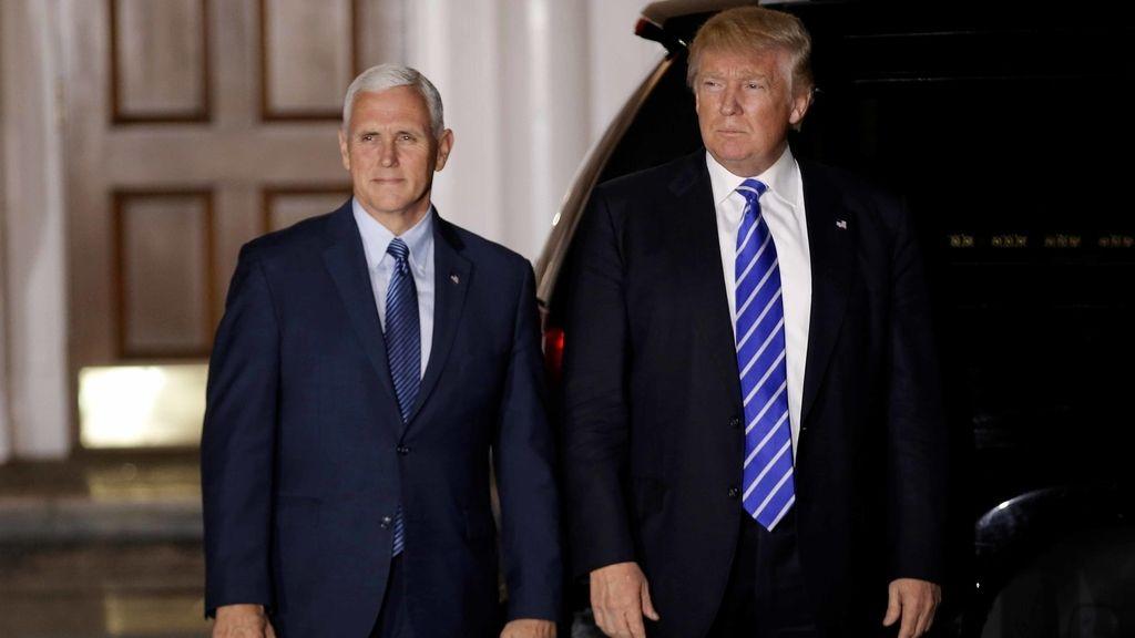 Mike Pence y Donald Trump, vicepresidente y presidente electos de EEUU
