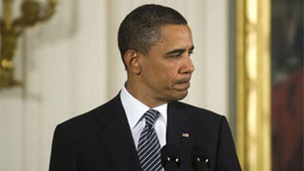 Obama durante la cena en la que ha sido ovacionado. Foto: EFE