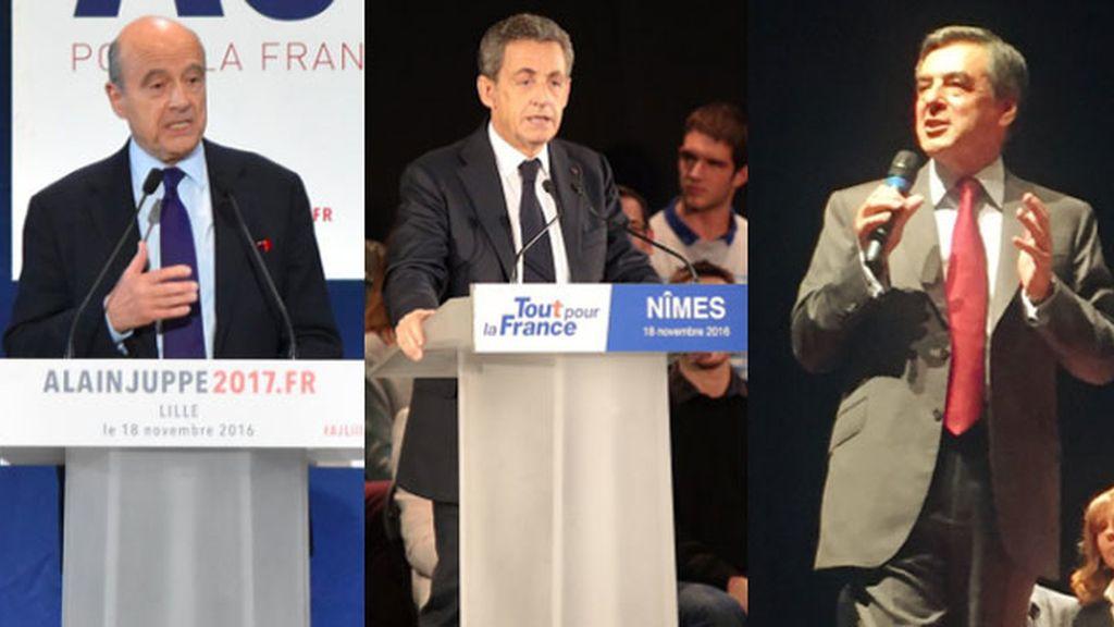 Juppé, Sarkozy y Fillon