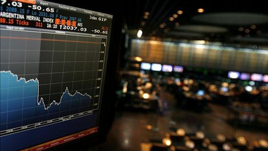 El volumen de negocios operados en acciones totalizó 47,8 millones de pesos (12,7 millones de dólares. EFE/Archivo
