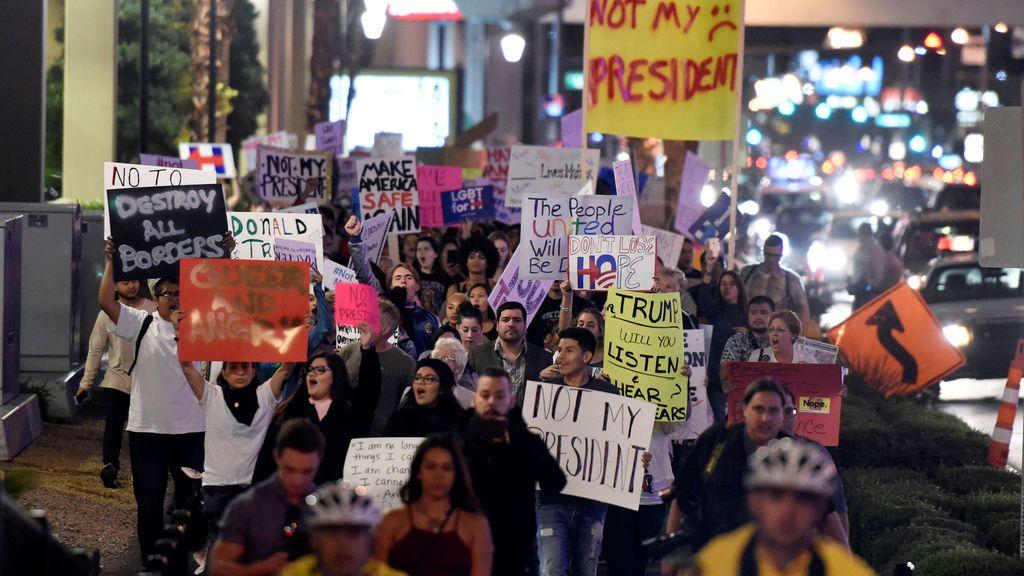 Protesta en Las Vegas contra Donald Trump