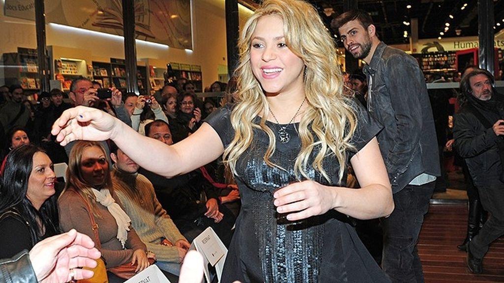 Shakira y Piqué estuvieron muy acaramelados durante todo el acto