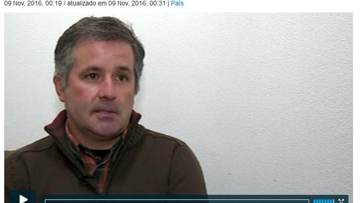 Imagen de la entrevista de RTP a Pedro Dias