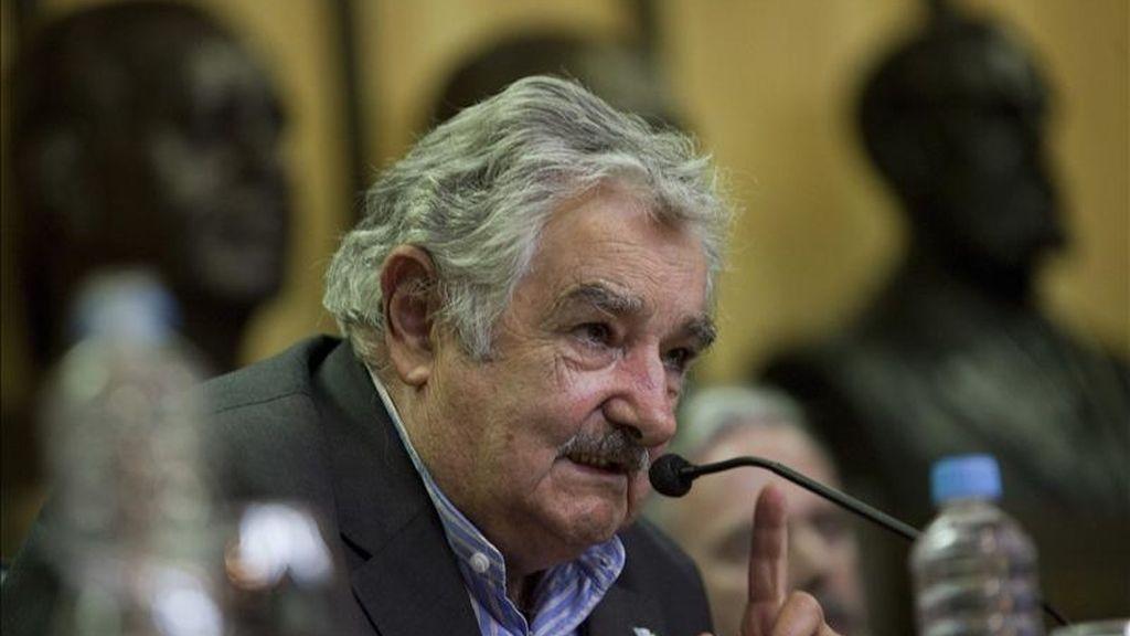 A finales del pasado mes de noviembre Mujica hizo una visita privada de dos días a Madrid durante la cual mantuvo contactos con empresarios españoles de los sectores comunicaciones y empresas navieras. EFE/Archivo