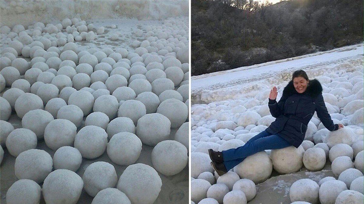 Bolas de nieve gigantes
