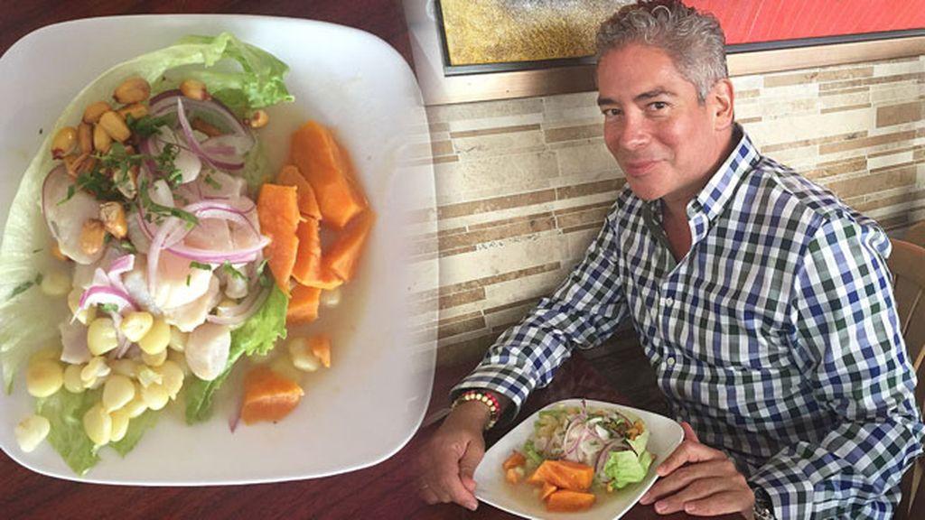 Boris Izaguirre se decanta por la comida sana y cocina un ceviche