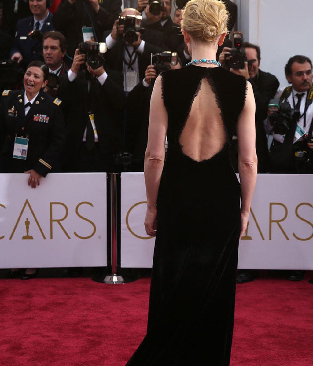 Detalle de la espalda del vestido de Cate Blanchett