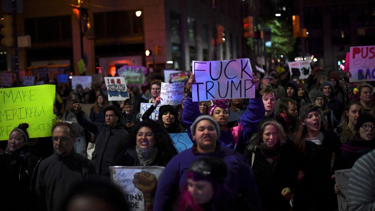 Phipadelphia, protesta en contra de Trump