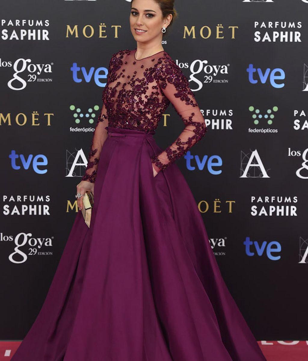 Blanca Suarez con vestido de Zuhair Murad y zapatos de Aquazurra